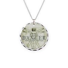 reel dancer da vinci intelli Necklace Circle Charm