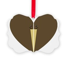kiwi heart Ornament