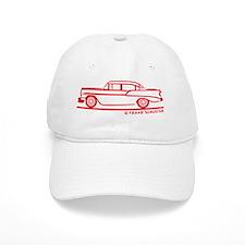 56 210 Sedan_Red Baseball Cap