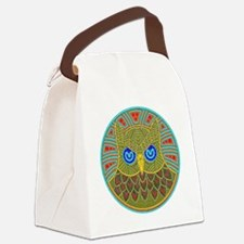 owl mandala Canvas Lunch Bag