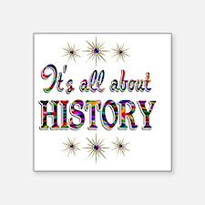 """HISTORY Square Sticker 3"""" x 3"""""""