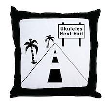 funny ukulele gift uke t-shirts ukule Throw Pillow