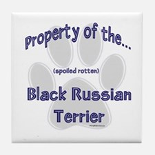 Black Russian Property Tile Coaster