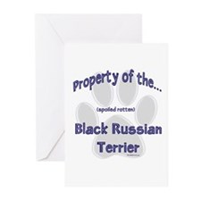 Black Russian Property Greeting Cards (Package of