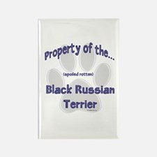 Black Russian Property Rectangle Magnet