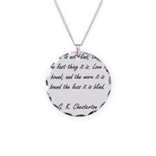 love is not blind Necklace