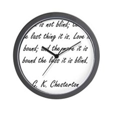 love is not blind Wall Clock
