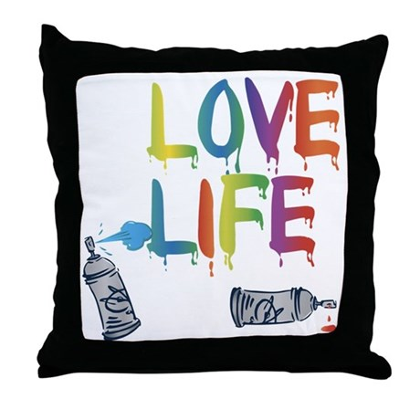 Love Life Throw Pillow : love life Throw Pillow by Admin_CP55432076