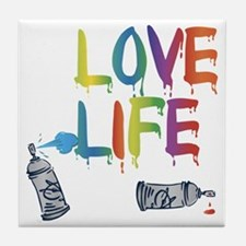 love life Tile Coaster