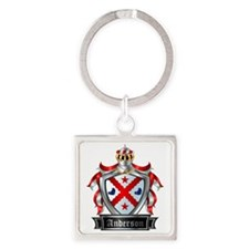 ANDERSON COAT OF ARMS Square Keychain