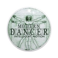 modern dancer intelligent motion by Round Ornament