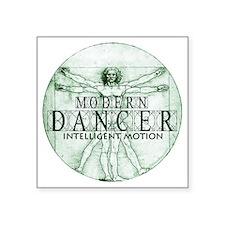 """modern dancer intelligent m Square Sticker 3"""" x 3"""""""