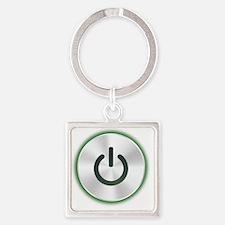powerBtn1B Square Keychain