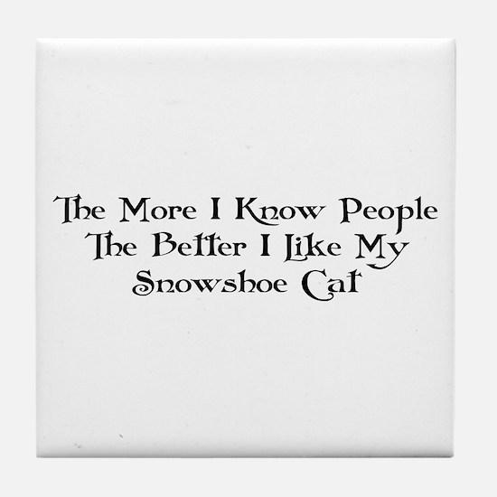 Like Snowshoe Tile Coaster