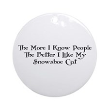 Like Snowshoe Ornament (Round)