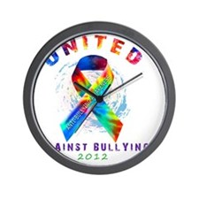 unitedagainstbullying-dark2 Wall Clock