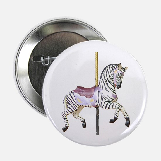 "carousel zebra 2.25"" Button (10 pack)"