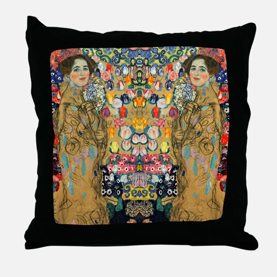 Klimt Cal G Throw Pillow