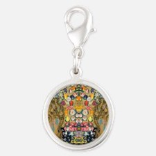 Klimt Cal G Silver Round Charm