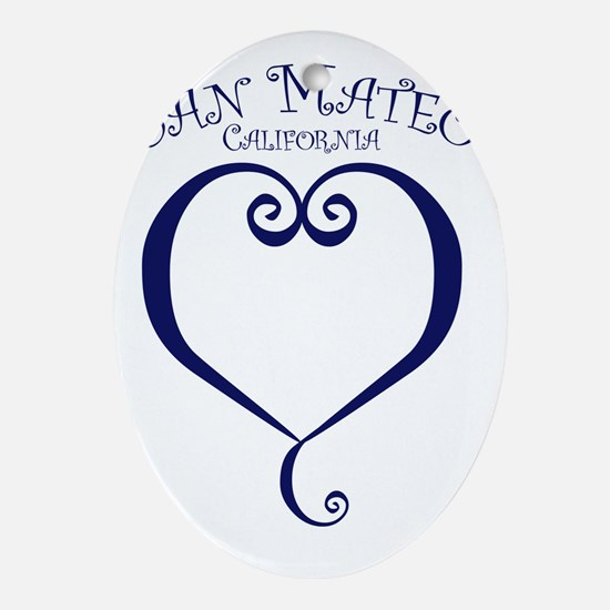 HEART-San-Mateo Oval Ornament