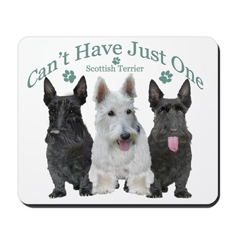 scottish terrier cant have just one Mousepad