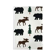 moose and bear Rectangle Magnet