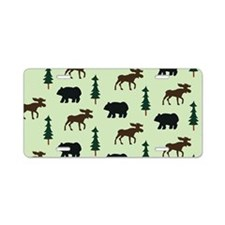 Bear Moose Laptop Skin Aluminum License Plate