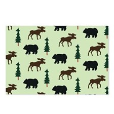 Bear Moose Laptop Skin Postcards (Package of 8)