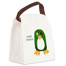 Zombie Penguin Canvas Lunch Bag