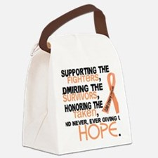 D Uterine Cancer Supporting Admir Canvas Lunch Bag