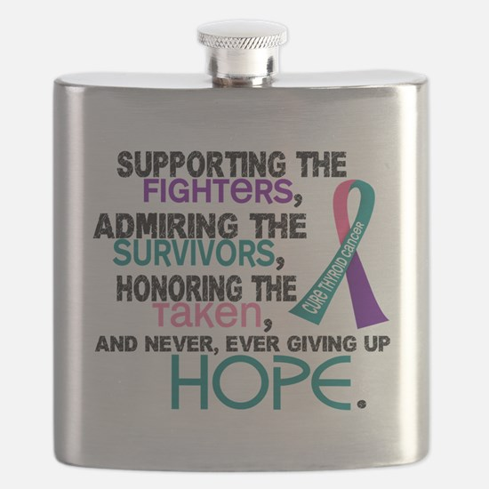 D Thyroid Cancer Supporting Admiring Honorin Flask