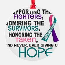 D Thyroid Cancer Supporting Admirin Ornament