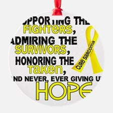 D Sarcoma Supporting Admiring Honor Ornament