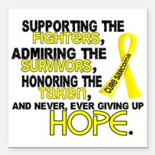 "D Sarcoma Supporting Adm Square Car Magnet 3"" x 3"""