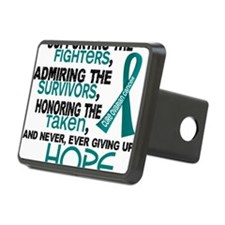 D Ovarian Cancer Supportin Hitch Cover