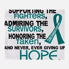 D Ovarian Cancer Supporting Admiring Throw Blanket