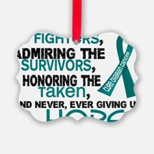 D Ovarian Cancer Supporting Admir Ornament