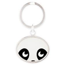 cute panda Oval Keychain