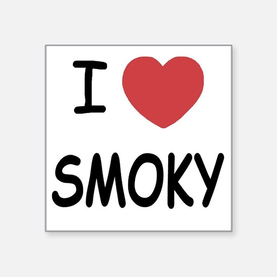 "SMOKY Square Sticker 3"" x 3"""