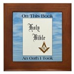 Masonic Treasures. The oath. Framed Tile