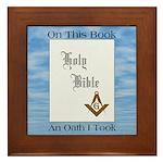 Masonic Treasures. The oath. Framed Tile