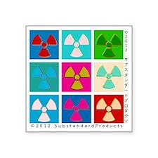 "post-pop-atomic-black Square Sticker 3"" x 3"""