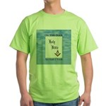 Masonic Treasures. The oath. Green T-Shirt