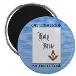 "Masonic Treasures. The oath. 2.25"" Magnet (10 pack"