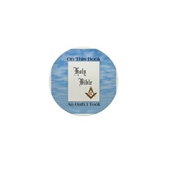 Masonic Treasures. The oath. Mini Button (10 pack)