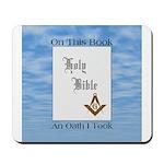 Masonic Treasures. The oath. Mousepad