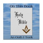 Masonic Treasures. The oath. Tile Coaster