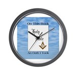 Masonic Treasures. The oath. Wall Clock