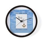 Masonic Treasures. The oath. Wall Clock