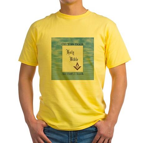 Masonic Treasures. The oath. Yellow T-Shirt